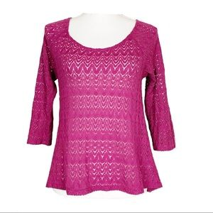 Urban Outfitters Staring at Stars Pink Lace Top M